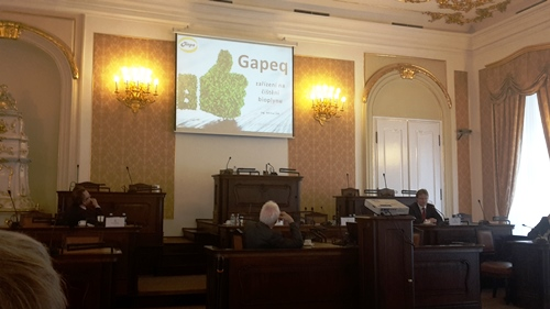 Presentation of a Gapeq15 at the Chamber of Deputies' seminar, Prague